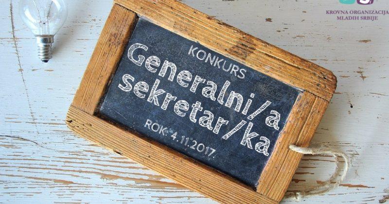 Konkurs za radno mesto u Krovnoj organizaciji mladih Srbije – Generalni/a sekretar/ka