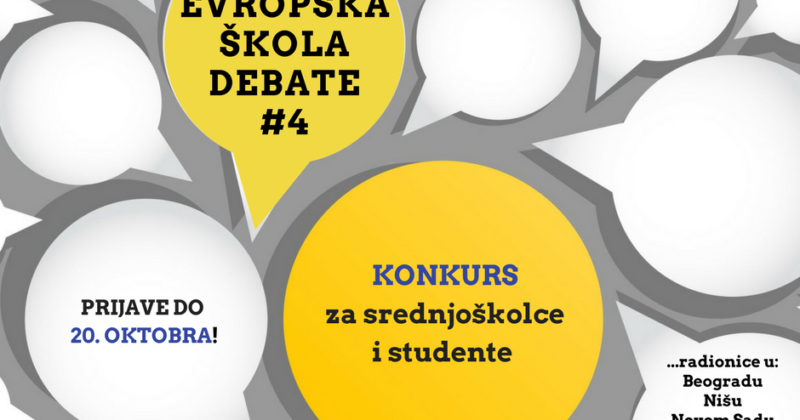"Otvoren konkurs za polaznike ""Evropske škole debate"""