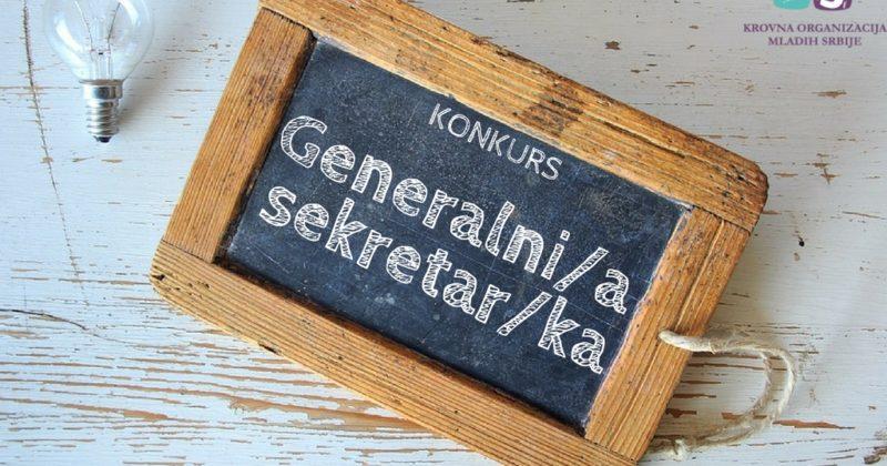 Javni konkurs za radno mesto u Krovnoj organizaciji mladih Srbije – Generalni/a sekretar/ka