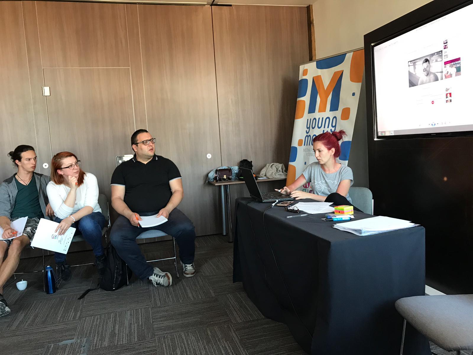 Obuka za saradnike i saradnice na projektu Young Media 2
