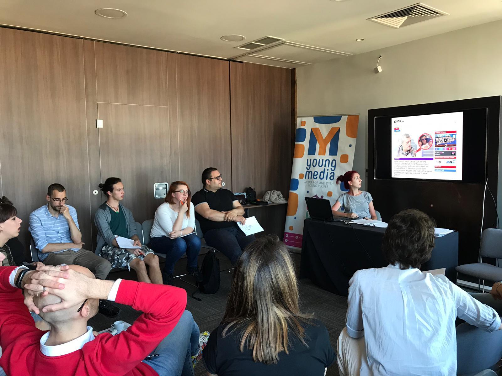Obuka za saradnike i saradnice na projektu Young Media