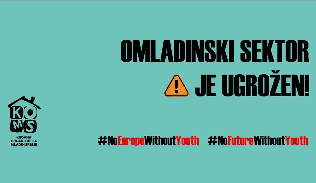 Pomozi nam da sačuvamo omladinski sektor!