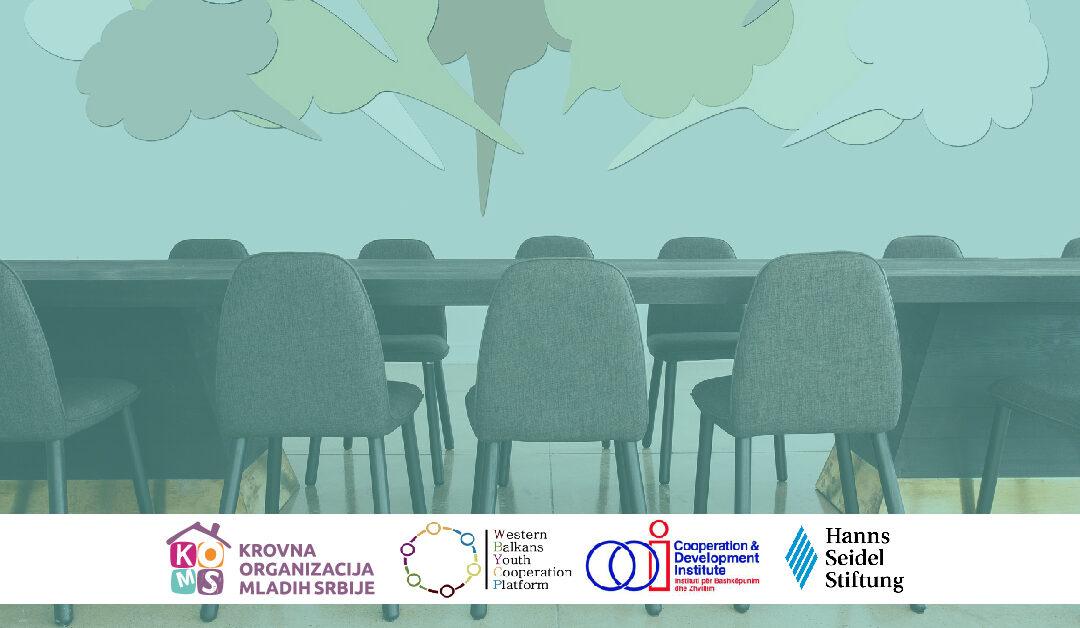 """Poziv na panel diskusiju """"Regionalna saradnja i politička participacija mladih u regionu"""""""