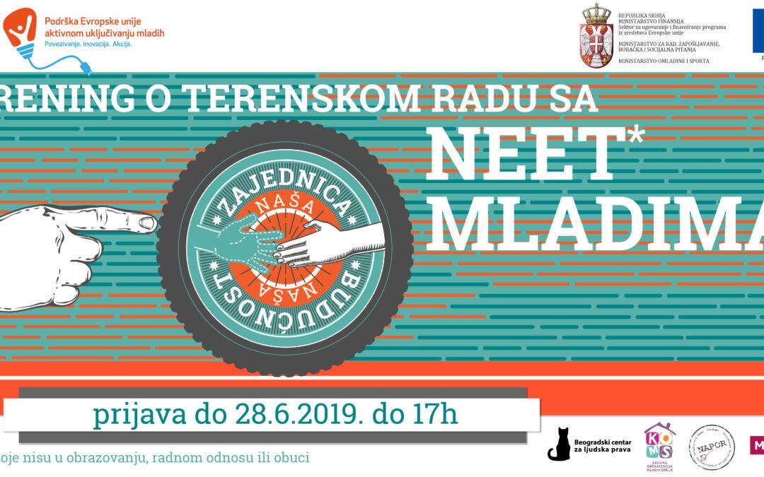 Poziv za učešće na treningu o terenskom radu za organizacije iz Vojvodine, Beograda, istočne, zapadne i južne Srbije