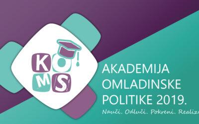 Konkurs za odabir treće generacije Akademije omladinske politike