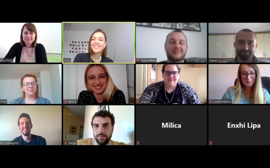 Održan online sastanak regionalnih krovnih saveza mladih