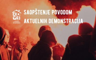 KOMS: Saopštenje povodom aktuelnih demonstracija