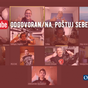 Budi YouTube odgovoran/na, poštuj sebe i druge: završene edukacije