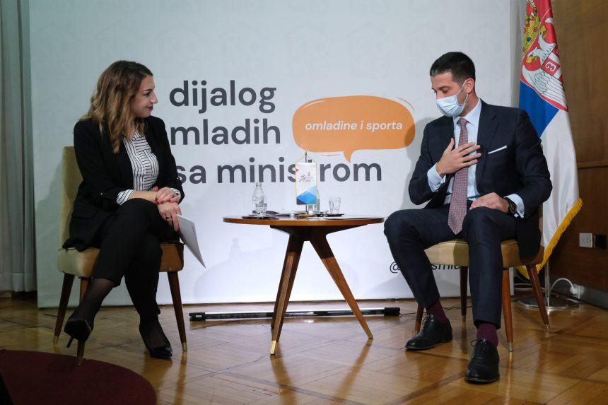 Realizovan Dijalog mladih sa ministrom omladine i sporta
