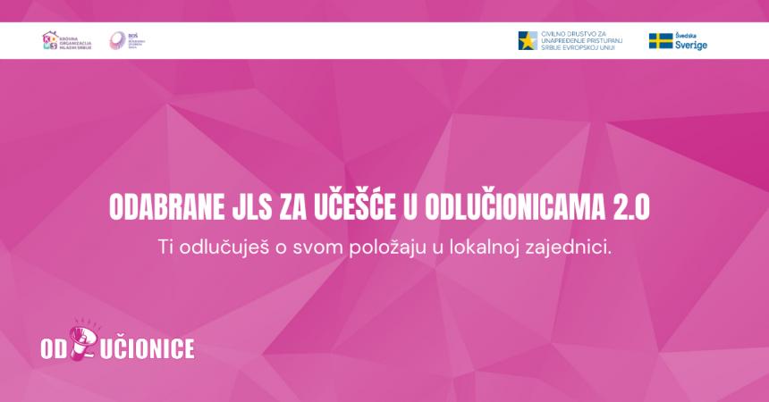Odabrane JLS za učešće u Odlučionicama 2.0